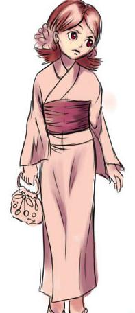 как нарисовать японку в кимоно по другому? Решение для учеников 4 класса на фото 6