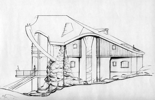 дом будущего рисунок карандашом