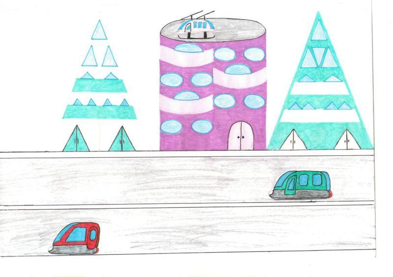 дом будущего - рисунок карандашом на фото 2
