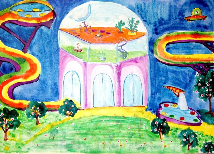 дом будущего - рисунок карандашом на фото 4