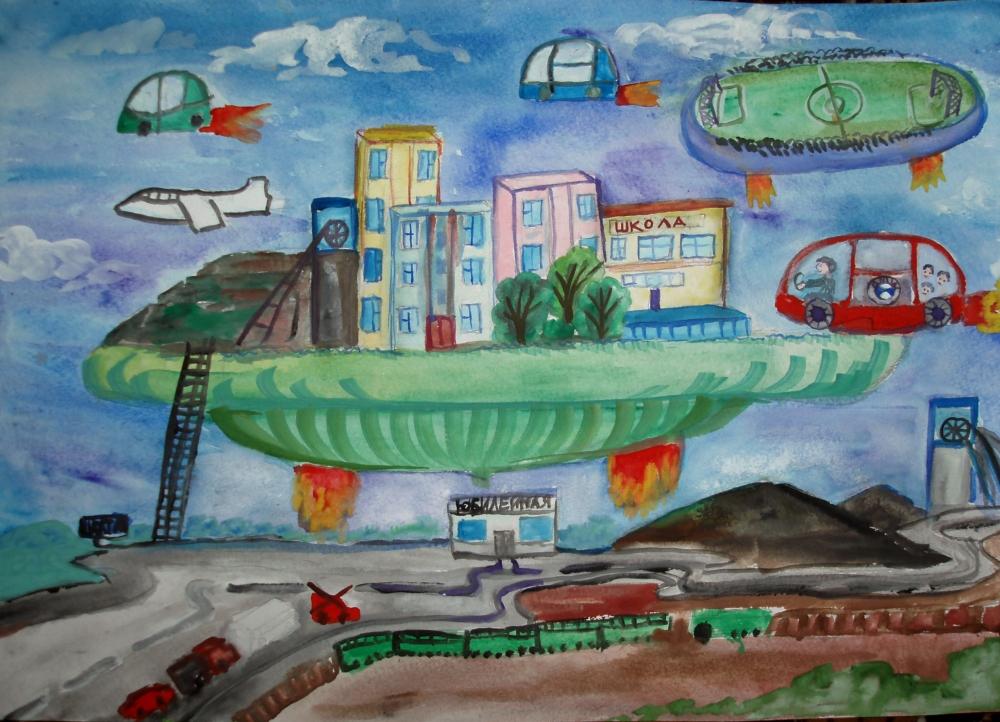 дом будущего - рисунок карандашом на фото 5