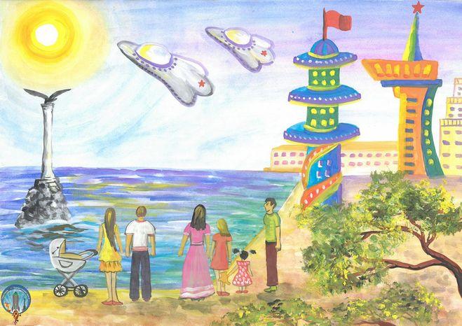 дом будущего - рисунок карандашом на фото 6
