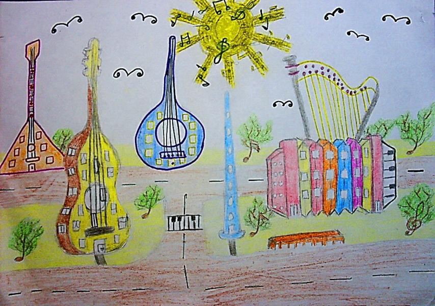 нарисованные дома будущего детьми, рисунки карандашом на фото 2