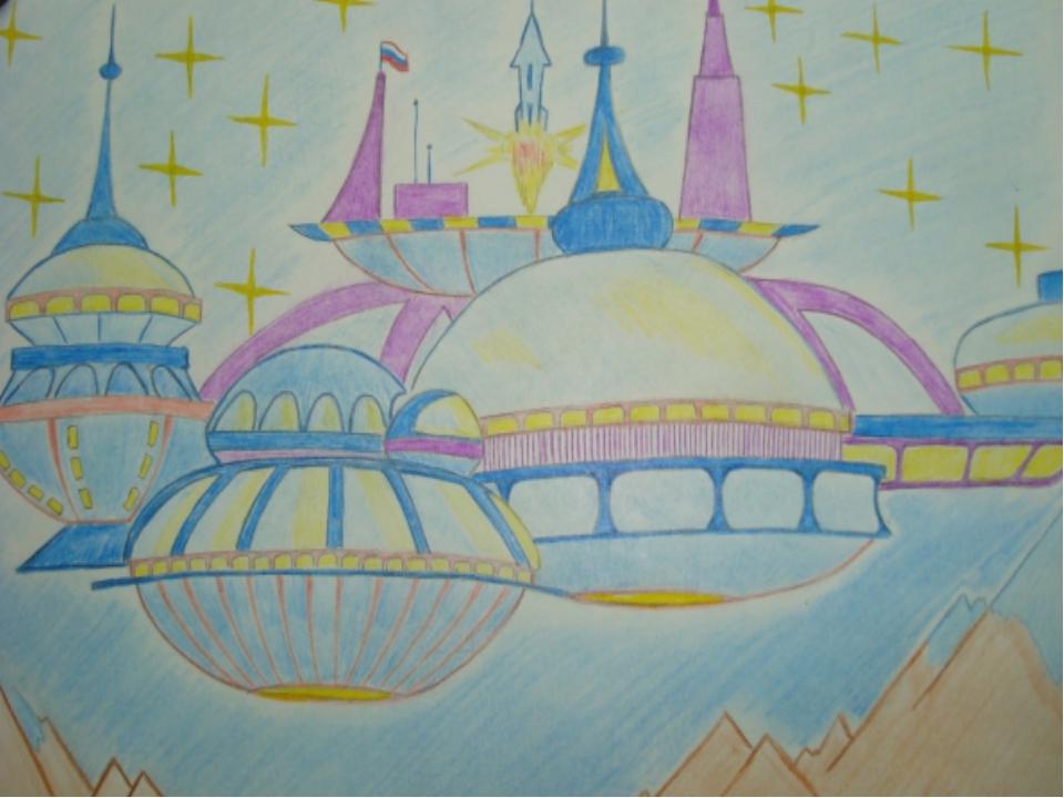нарисованные дома будущего детьми, рисунки карандашом на фото 4