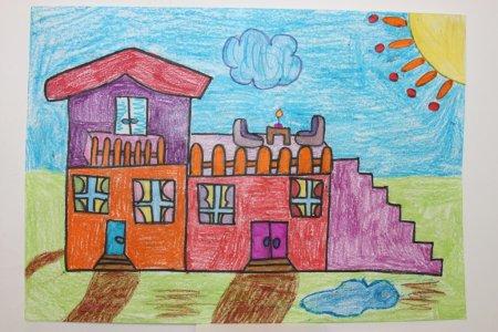 нарисованные дома будущего детьми, рисунки карандашом на фото 8