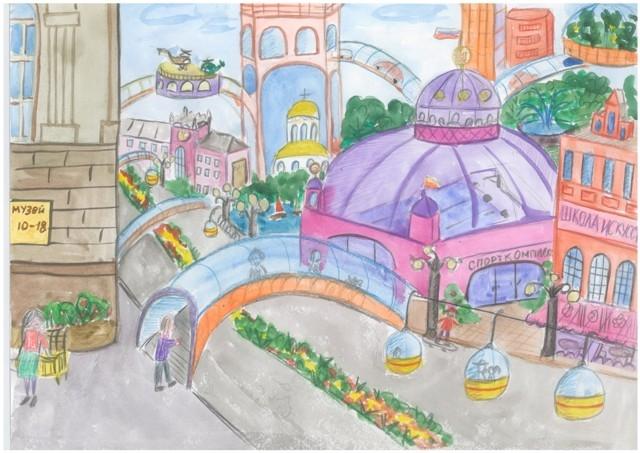 нарисованные дома будущего детьми, рисунки карандашом на фото 5