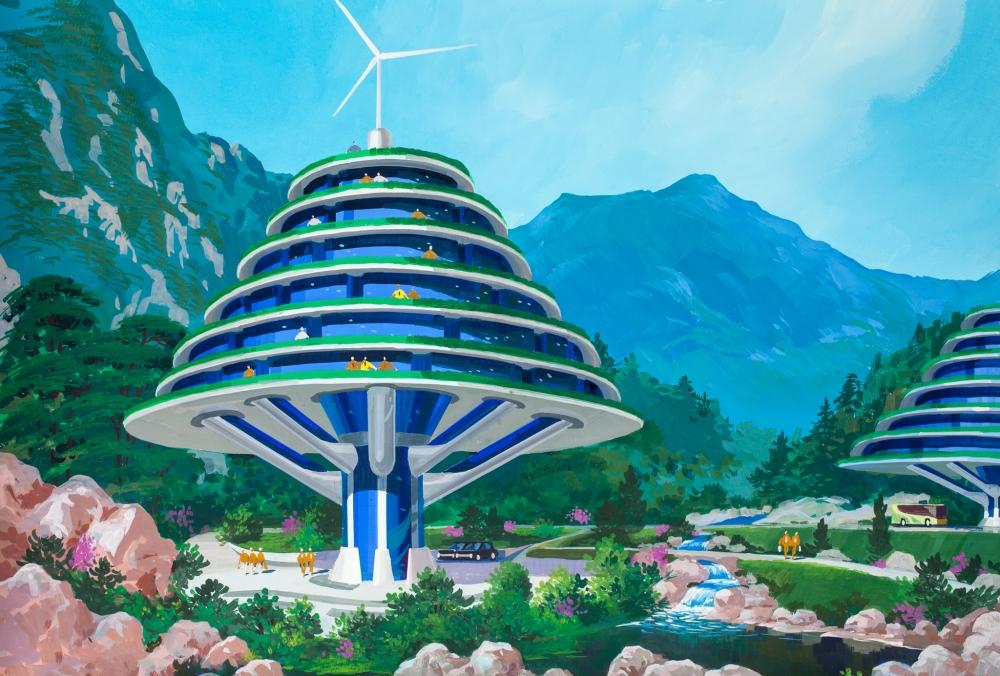 как нарисовать дом будущего рисунок карандашом фото 2