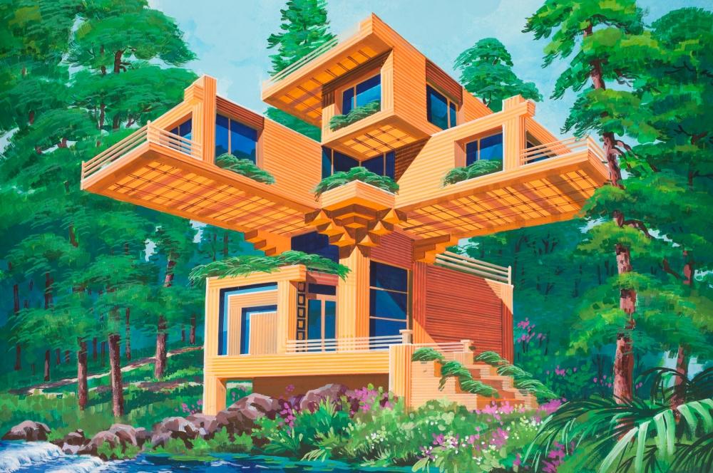 как нарисовать дом будущего рисунок карандашом фото 4