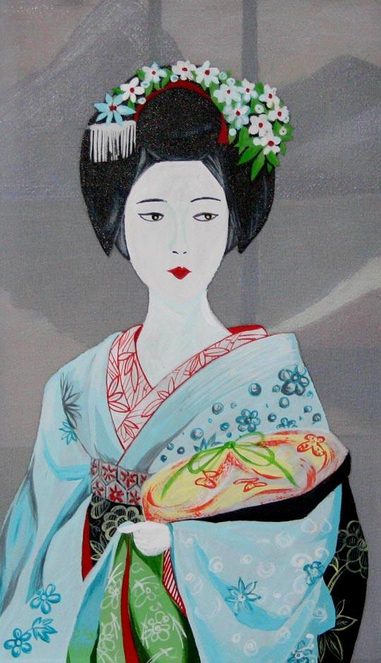 как нарисовать японку в кимоно для 4 класса