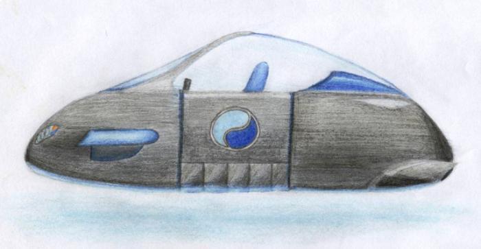 машина будущего - рисунок карандашом для детей, фото 1