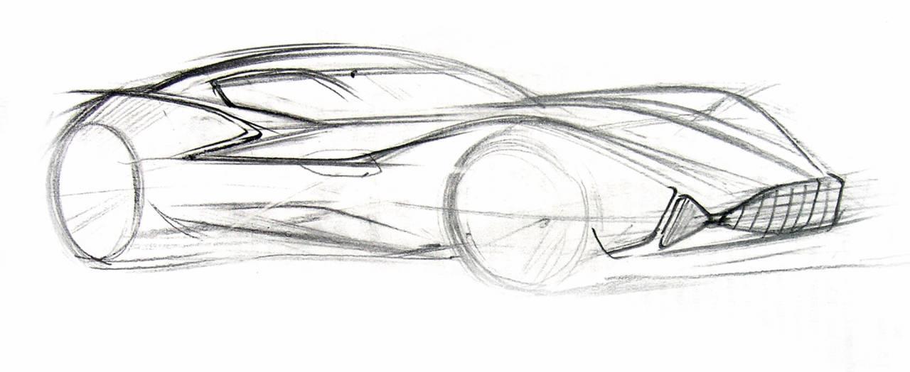 машина будущего - рисунок карандашом для детей, фото 2