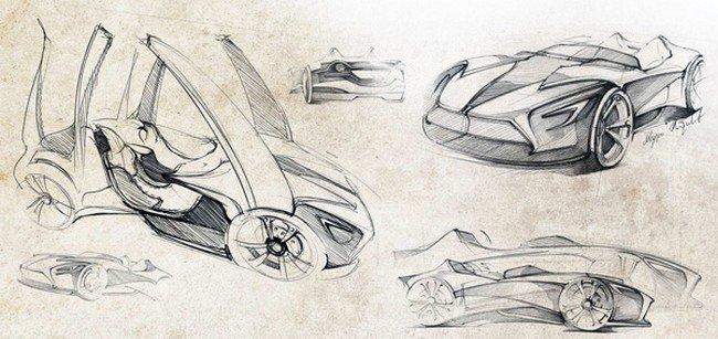 машина будущего - рисунок карандашом для детей, фото 4