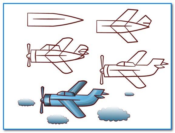 самые простые рисунки самолетов карандашом фото 1