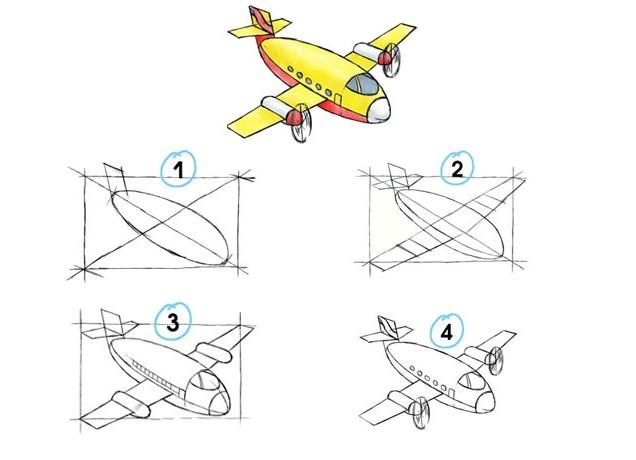военный самолет рисунок карандашом фото 2