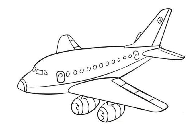 рисунок самолета карандашом для детей для срисовки + фото уроки 1