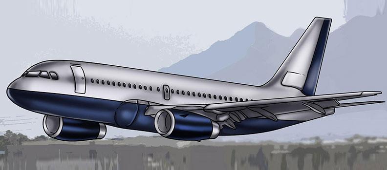 пассажирский самолет рисунок карандашом фото 1