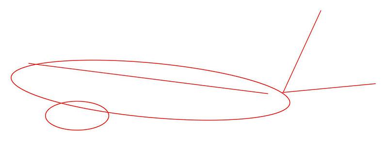 пассажирский самолет рисунок карандашом фото 2