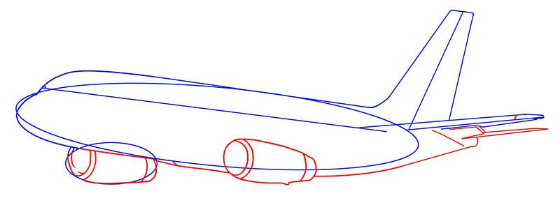 пассажирский самолет рисунок карандашом фото 4