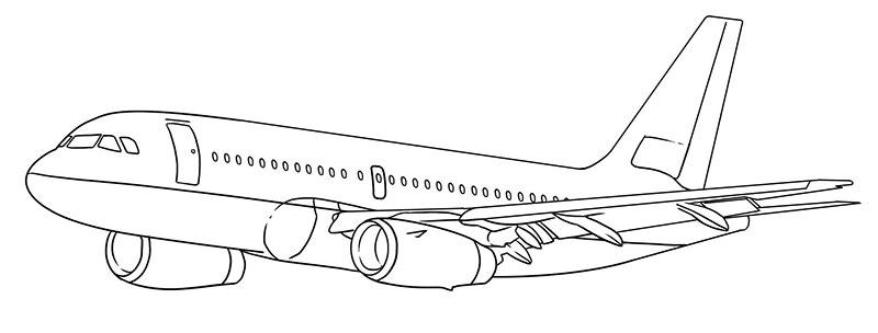 пассажирский самолет рисунок карандашом фото 8