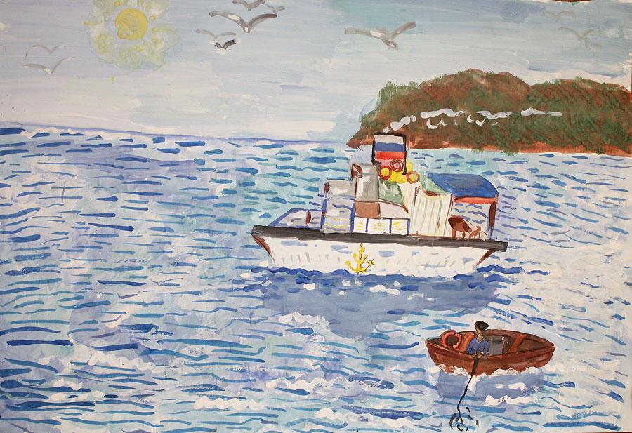 море в одном из его нарядов, рисунок на фото для 2 класса фото 1
