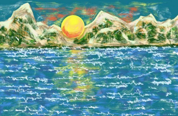 море в одном из его нарядов, рисунок на фото для 2 класса фото 7
