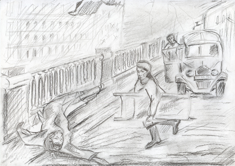 cталинградская битва рисунок карандашом