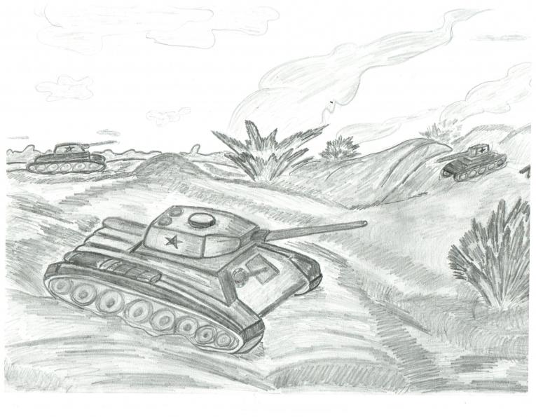 простой рисунок Сталинградской битвы фото 2