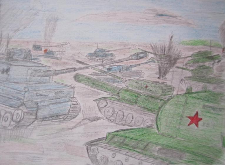простой рисунок Сталинградской битвы фото 4