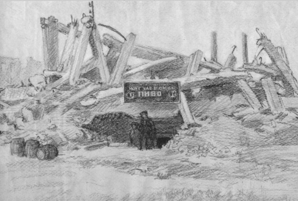 усложненный вариант рисунка Сталинградской битвы фото 2