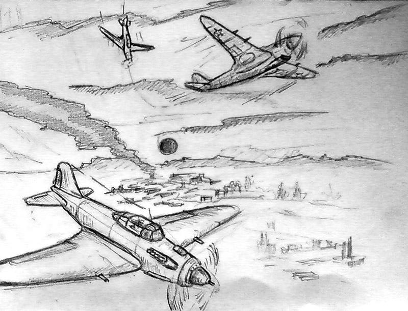 военный самолетрисунок карандашом фото 3