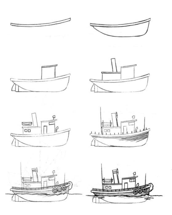 военный корабль рисунок карандашом фото 2