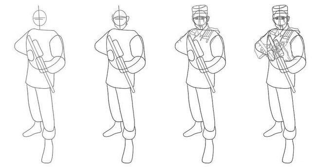 рисунок солдата фото 1
