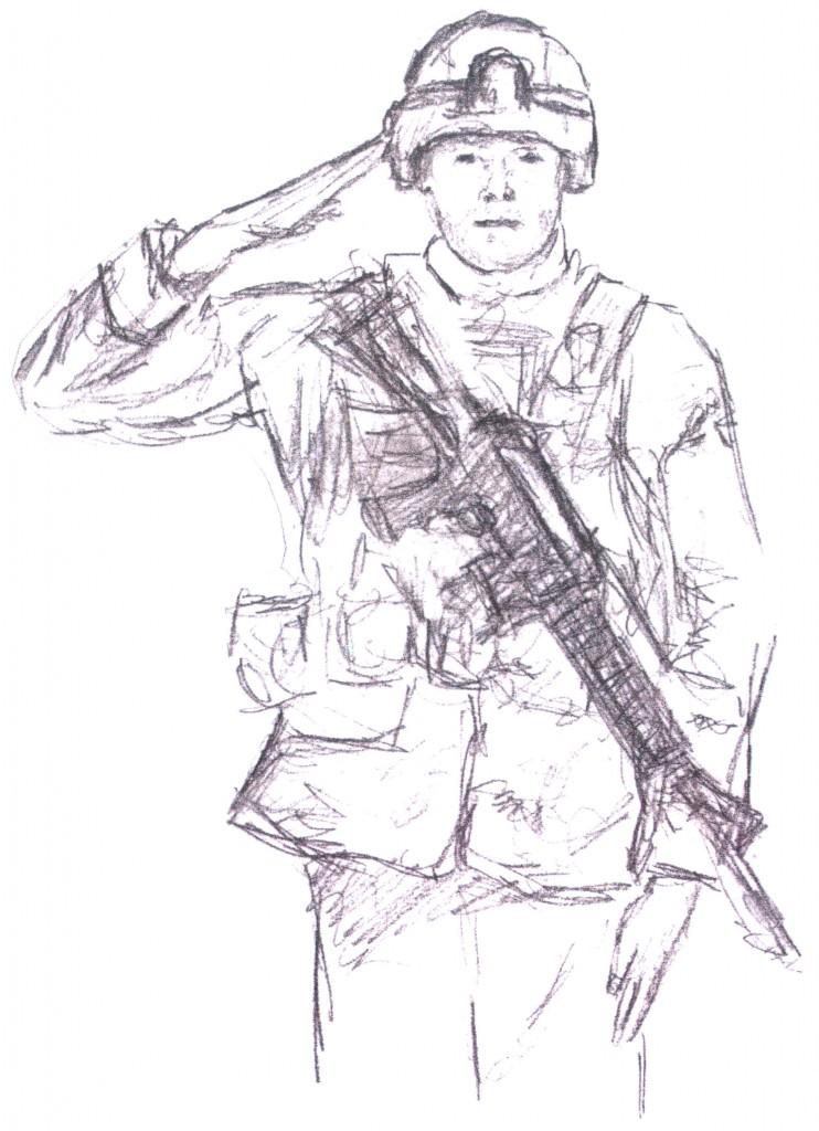 рисунок солдата фото 2