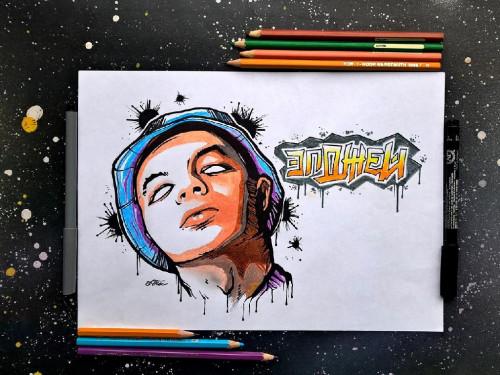 Элджей рисунки карандашом, фото фанатов 4