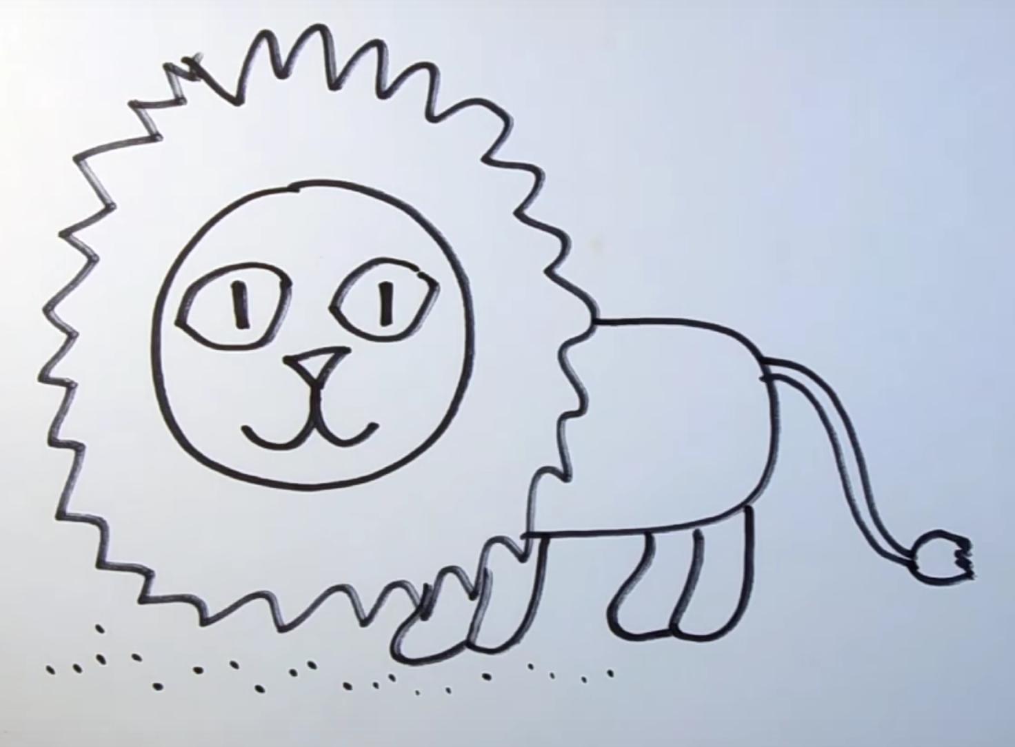 как нарисовать льва карандашом инструкция для ребенка фото 1