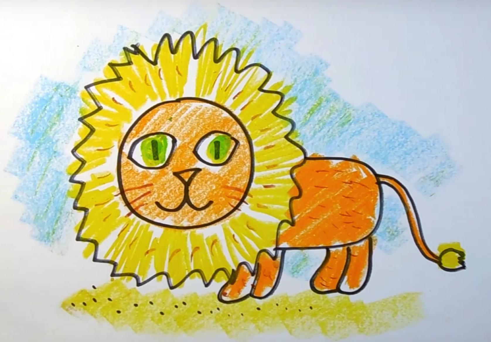 как нарисовать льва карандашом инструкция для ребенка фото 2