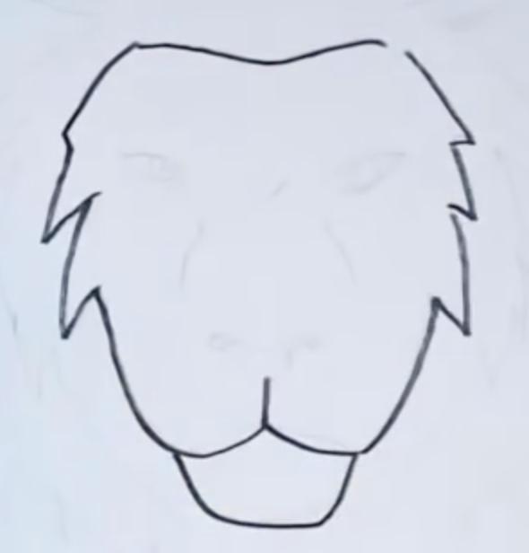 рисунок головы льва карандашом фото 1
