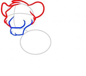 рисунок Симбы из Короля льва карандашом фото 3