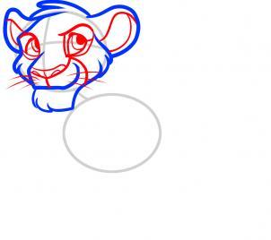 рисунок Симбы из Короля льва карандашом фото 4