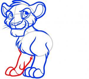 рисунок Симбы из Короля льва карандашом фото 6
