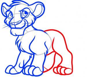 рисунок Симбы из Короля льва карандашом фото 7