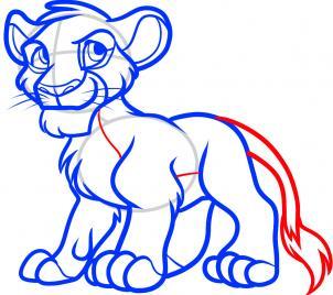 рисунок Симбы из Короля льва карандашом фото 8