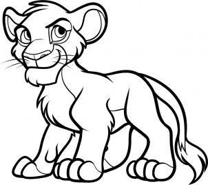 рисунок Симбы из Короля льва карандашом фото 9