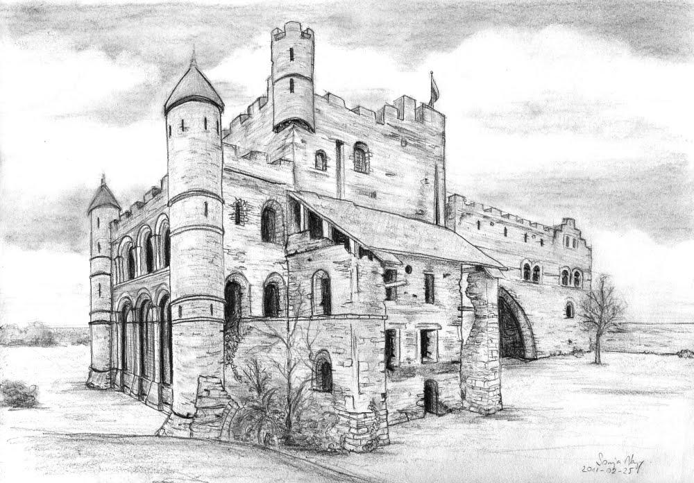 как нарисовать замок легко и красиво