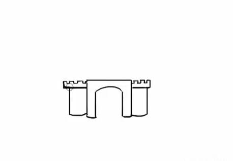 современный замок, как нарисовать легко и красиво фото 2