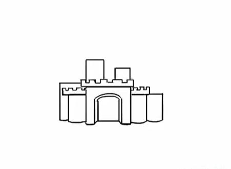 современный замок, как нарисовать легко и красиво фото 3