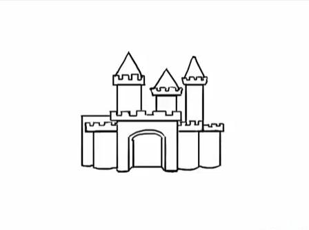 современный замок, как нарисовать легко и красиво фото 4