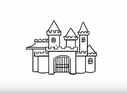современный замок, как нарисовать легко и красиво фото 5