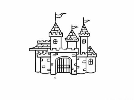 современный замок, как нарисовать легко и красиво фото 6