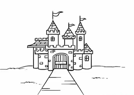 современный замок, как нарисовать легко и красиво фото 7